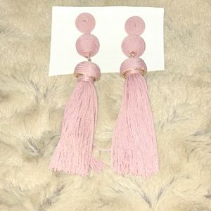 Never-worn Pink Tassel Earrings